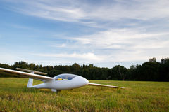 Landed sailplane Royalty Free Stock Photo