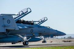 Landed Super Hornets Stock Image