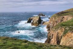 Landeind Cornwall Engeland Stock Afbeelding