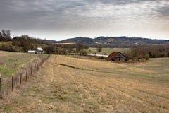 Landelijk Appalachian platteland stock afbeelding