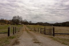 Landelijk Appalachian slachtveelandbouwbedrijf royalty-vrije stock foto