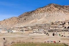 Landelijk Berber-dorp in Marokko Stock Foto's