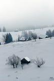 Landelijk breng in de winter onder Royalty-vrije Stock Fotografie