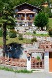 Landelijk chalet bij het dorp van Civiasco op Italië royalty-vrije stock foto's