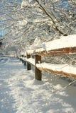 Landelijk de winterlandschap. stock afbeeldingen