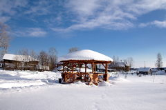 Landelijk de winterlandschap Stock Foto's