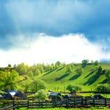 Landelijk de zomerlandschap Stock Foto's