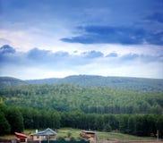 Landelijk de zomerlandschap royalty-vrije stock foto