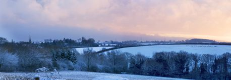 Landelijk Engeland in de winter Stock Afbeeldingen