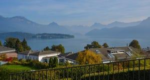 Landelijk huis in Luzern, Zwitserland stock afbeeldingen