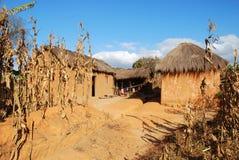 Landelijk huis in Pomerini in Tanzania - Afrika stock foto