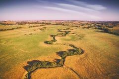 Landelijk landbouwbedrijf in Australië royalty-vrije stock afbeelding