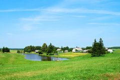 Landelijk landschap Stock Foto