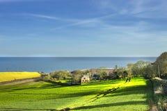 Landelijk landschap Aberdeenshire, Schotland royalty-vrije stock foto
