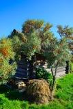 Landelijk landschap achter het huis Stock Afbeelding