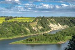 Landelijk landschap, Alberta Stock Afbeelding