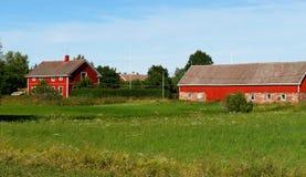 Landelijk landschap. Boerderij Stock Foto's