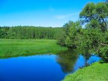 Landelijk landschap. De achtergrond van de aard. Royalty-vrije Stock Afbeeldingen