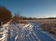 Landelijk landschap in de winter Royalty-vrije Stock Afbeelding