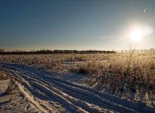 Landelijk landschap in de winter Royalty-vrije Stock Fotografie