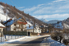 Landelijk landschap in de winter, Roemenië Royalty-vrije Stock Afbeelding