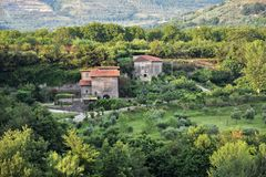 Landelijk landschap in dei Goti van Sant 'Agata royalty-vrije stock foto