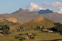 Landelijk landschap dichtbij Clarens, Zuid-Afrika Royalty-vrije Stock Afbeeldingen