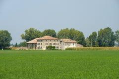 Landelijk landschap dichtbij Fidenza, Italië Stock Foto's