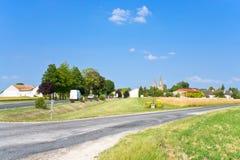 Landelijk landschap in Frankrijk Royalty-vrije Stock Afbeeldingen