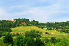 Landelijk landschap in Frankrijk Royalty-vrije Stock Fotografie