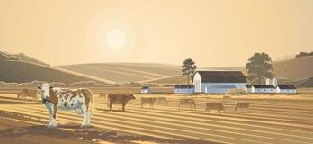 Landelijk landschap Landbouwbedrijf Royalty-vrije Stock Foto's