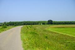 Landelijk landschap langs het Po fietspad Royalty-vrije Stock Fotografie