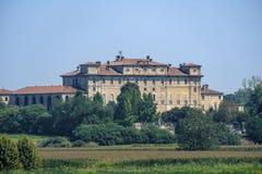 Landelijk landschap langs het Po fietspad Villa Litta Royalty-vrije Stock Foto's