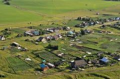 Landelijk landschap met een vogelperspectief Stock Foto