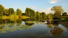 Landelijk landschap met pijler Royalty-vrije Stock Fotografie