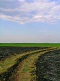 Landelijk landschap na kreupelhoutbrand Royalty-vrije Stock Afbeelding