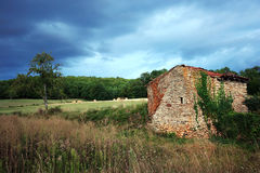 Landelijk landschap, Quercy, Frankrijk royalty-vrije stock foto's