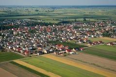 Landelijk landschap van de lucht Royalty-vrije Stock Afbeeldingen