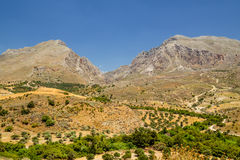 Landelijk landschap van Kreta Stock Afbeelding