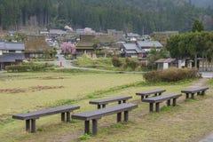 Landelijk landschap van Kyoto, Japan royalty-vrije stock afbeelding