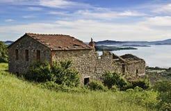 Landelijk landschap van Umbrië stock afbeeldingen