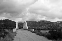 Landelijk landschap in zwart-wit royalty-vrije stock foto