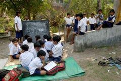 Landelijk Onderwijs in India Stock Foto