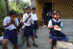 Landelijk Onderwijs in India Stock Afbeeldingen