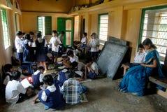Landelijk Onderwijs in India Stock Foto's