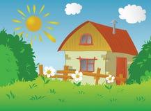 Landelijk plattelandshuisje stock illustratie