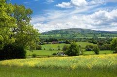 Landelijk Shropshire, Engeland Royalty-vrije Stock Afbeeldingen