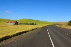 Landelijke aandrijving in de staat van Washington Stock Foto