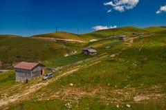 Landelijke berglandschappen van Georgisch Adjara-gebied Stock Foto's