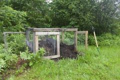 Landelijke Compostbak Royalty-vrije Stock Foto's